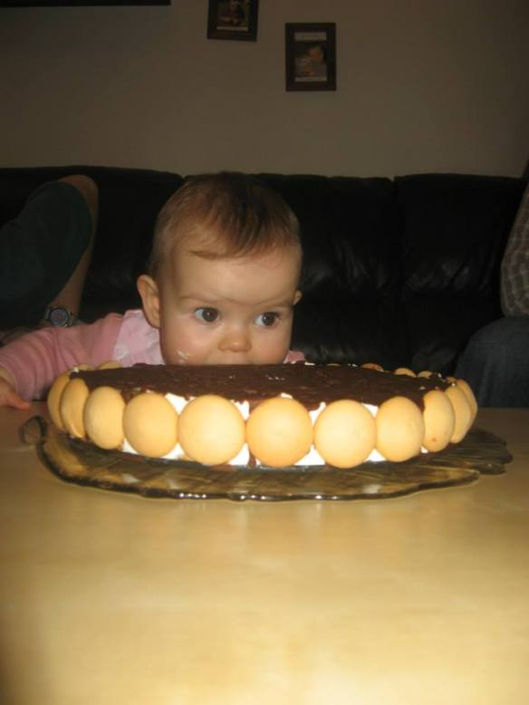 Table manners are very important in this family